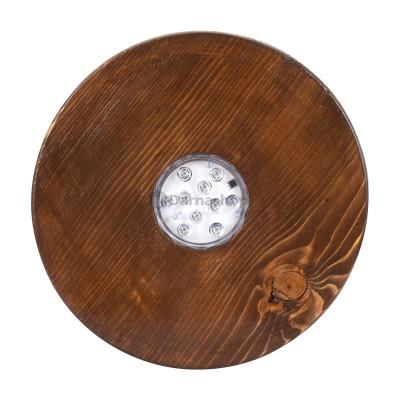 Socle en bois lumineux