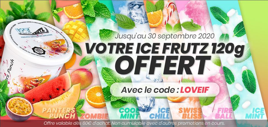 Darnashop offers you an ice frutz from 60 € of purchase