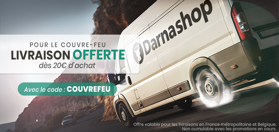 Darnashop offers the delivery of 20 euros of purchase during the curfew.